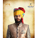 S H A H I T A J Traditional Rajasthani Wedding Barati Cotton Multi-Colored Lehariya Jodhpuri & Rajputi Pagdi Safa or Turban for Kids and Adults (CT190)-ST270_18andHalf-sm