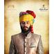 S H A H I T A J Traditional Rajasthani Wedding Barati Cotton Multi-Colored Lehariya Jodhpuri & Rajputi Pagdi Safa or Turban for Kids and Adults (CT190)-ST270_21andHalf-sm