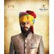 S H A H I T A J Traditional Rajasthani Wedding Barati Cotton Multi-Colored Lehariya Jodhpuri & Rajputi Pagdi Safa or Turban with Brooch for Kids and Adults (CT191)-ST271_18andHalf-sm
