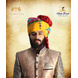 S H A H I T A J Traditional Rajasthani Wedding Barati Cotton Multi-Colored Lehariya Jodhpuri & Rajputi Pagdi Safa or Turban with Brooch for Kids and Adults (CT191)-ST271_21andHalf-sm