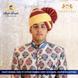 S H A H I T A J Traditional Rajasthani Wedding Barati Zari Cotton Kotadoriya Red & Cream Jodhpuri Pagdi Safa or Turban for Kids and Adults (CT194)-ST274_18andHalf-sm