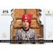 S H A H I T A J Traditional Rajasthani Wedding Barati Cotton Zari Kotadoriya Red Udaipuri Pagdi Safa or Turban with Brooch for Kids and Adults (CT193)-18-3-sm