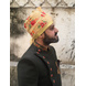 S H A H I T A J Traditional Rajasthani Wedding Barati Floral Chanderi Silk Multi-Colored Udaipuri Pagdi Safa or Turban for Kids and Adults (CT207)-18-3-sm