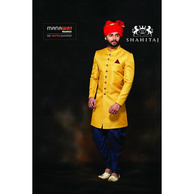 S H A H I T A J Traditional Rajasthani Wedding Barati Plain Chanderi Silk Red Udaipuri Pagdi Safa or Turban for Kids and Adults (CT215)-ST295_19andHalf