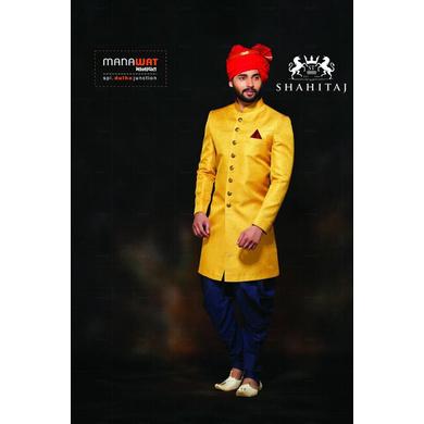 S H A H I T A J Traditional Rajasthani Wedding Barati Plain Chanderi Silk Red Udaipuri Pagdi Safa or Turban for Kids and Adults (CT215)-ST295_21