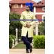 S H A H I T A J Traditional Rajasthani Wedding Barati Plain Blue Chanderi Silk Udaipuri Pagdi Safa or Turban for Kids and Adults (CT216)-ST296_21andHalf-sm
