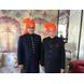 S H A H I T A J Traditional Rajasthani Wedding Barati Plain Chanderi Silk Orange or Kesariya Udaipuri Pagdi Safa or Turban for Kids and Adults (CT218)-ST298_18andHalf-sm