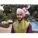 S H A H I T A J Traditional Rajasthani Wedding Barati Plain Chanderi Silk Baby Pink Udaipuri Pagdi Safa or Turban for Kids and Adults (CT224)-19-1-sm