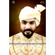 S H A H I T A J Traditional Rajasthani Wedding Barati Plain Chanderi Silk White Udaipuri Pagdi Safa or Turban for Kids and Adults (CT225)-ST305_23andHalf-sm