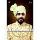 S H A H I T A J Traditional Rajasthani Wedding Barati Plain Chanderi Silk Pista Udaipuri Pagdi Safa or Turban for Kids and Adults (CT226)-ST306_22andHalf-sm