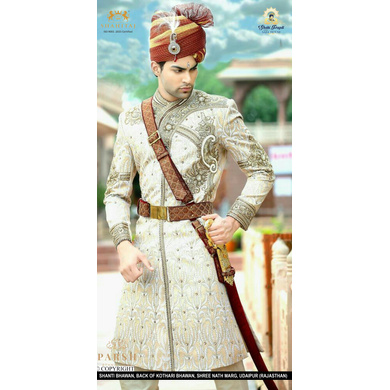 S H A H I T A J Traditional Rajasthani Wedding Multi-Colored Cotton Kotadoriya Jodhpuri & Rajputi Pagdi Safa or Turban for Groom or Dulha (CT235)-ST315_21