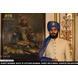S H A H I T A J Traditional Rajasthani Wedding Udaipuri Blue Silk Brocade Pagdi Safa or Turban for Groom or Dulha (CT248)-ST328_21andHalf-sm