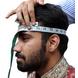 S H A H I T A J Traditional Rajasthani Wedding Udaipuri Rani or Magenta Checkered Silk Pagdi Safa or Turban for Groom or Dulha (CT254)-21-1-sm