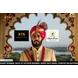 S H A H I T A J Traditional Rajasthani Wedding Udaipuri Rani or Magenta Checkered Silk Pagdi Safa or Turban for Groom or Dulha (CT254)-ST334_21andHalf-sm