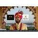 S H A H I T A J Traditional Rajasthani Wedding Udaipuri Rani or Magenta Checkered Silk Pagdi Safa or Turban for Groom or Dulha (CT254)-ST334_22andHalf-sm