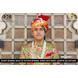 S H A H I T A J Traditional Rajasthani Wedding Multi-Colored Cotton Bandhej Jodhpuri Pagdi Safa or Turban for Groom or Dulha (CT259)-ST339_21andHalf-sm