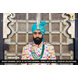 S H A H I T A J Traditional Rajasthani Wedding Firozi or Turquoise Silk Udaipuri Pagdi Safa or Turban for Groom or Dulha (CT262)-ST342_23andHalf-sm