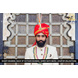 S H A H I T A J Traditional Rajasthani Wedding Red Silk Udaipuri Pagdi Safa or Turban for Groom or Dulha (CT268)-ST348_23andHalf-sm