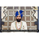 S H A H I T A J Traditional Rajasthani Wedding Blue Silk Golden Dotted Udaipuri Pagdi Safa or Turban for Groom or Dulha (CT271)-ST351_22andHalf-sm