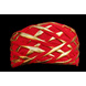 S H A H I T A J Traditional Rajasthani Red Color Faux Silk Marwadi Munshi Pagdi Safa or Turban for Kids and Adults (RT317)-ST477_18andHalf-sm
