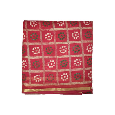 S H A H I T A J Traditional Rajasthani Gharchola Faux Silk Red Barati/Groom/Social Occasions Turban Safa Pagdi Pheta Cloth for Kids and Adults (CT322)-ST482