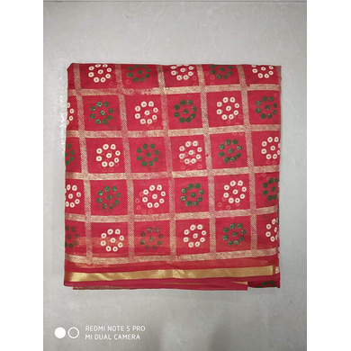 S H A H I T A J Traditional Rajasthani Gharchola Faux Silk Red Barati/Groom/Social Occasions Turban Safa Pagdi Pheta Cloth for Kids and Adults (CT322)-Free Size-2