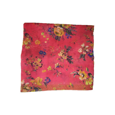 S H A H I T A J Traditional Rajasthani Floral Faux Silk Red Barati/Groom/Social Occasions Turban Safa Pagdi Pheta Cloth for Kids and Adults (CT326)-ST486