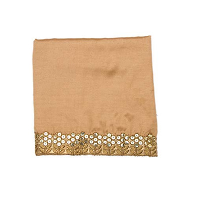 S H A H I T A J Traditional Rajasthani Silk Golden Barati/Groom/Social Occasions Turban Safa Pagdi Pheta Cloth for Kids and Adults (CT332)-ST492