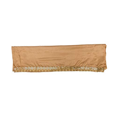 S H A H I T A J Traditional Rajasthani Silk Golden Barati/Groom/Social Occasions Turban Safa Pagdi Pheta Cloth for Kids and Adults (CT332)-Free Size-2