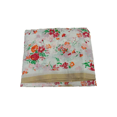 S H A H I T A J Traditional Rajasthani Floral Faux Silk White Barati/Groom/Social Occasions Turban Safa Pagdi Pheta Cloth for Kids and Adults (CT337)-ST497