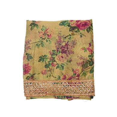 S H A H I T A J Traditional Rajasthani Floral Faux Silk Yellow Barati/Groom/Social Occasions Turban Safa Pagdi Pheta Cloth for Kids and Adults (CT341)-ST501