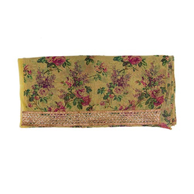 S H A H I T A J Traditional Rajasthani Floral Faux Silk Yellow Barati/Groom/Social Occasions Turban Safa Pagdi Pheta Cloth for Kids and Adults (CT341)-Free Size-2