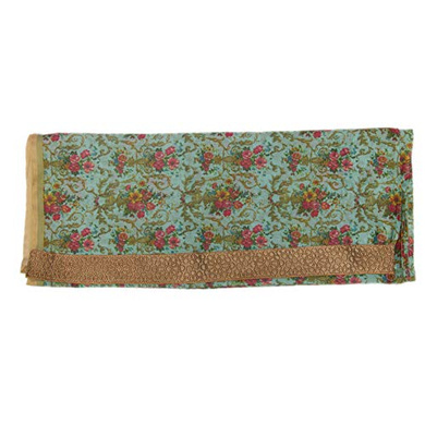 S H A H I T A J Traditional Rajasthani Floral Faux Silk Green Barati/Groom/Social Occasions Turban Safa Pagdi Pheta Cloth for Kids and Adults (CT342)-Free Size-2