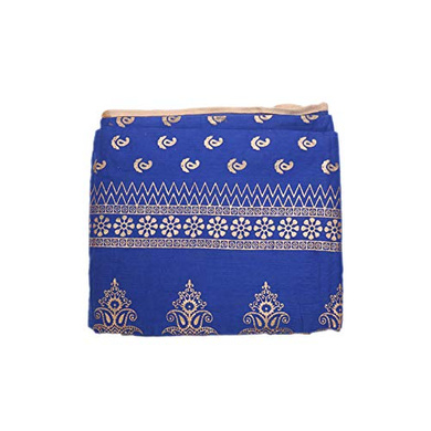 S H A H I T A J Traditional Rajasthani Boota Faux Silk Blue Barati/Groom/Social Occasions Turban Safa Pagdi Pheta Cloth for Kids and Adults (CT345)-ST505