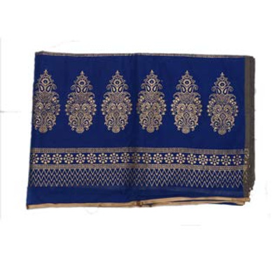 S H A H I T A J Traditional Rajasthani Boota Faux Silk Blue Barati/Groom/Social Occasions Turban Safa Pagdi Pheta Cloth for Kids and Adults (CT345)-Free Size-1
