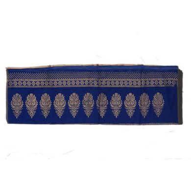 S H A H I T A J Traditional Rajasthani Boota Faux Silk Blue Barati/Groom/Social Occasions Turban Safa Pagdi Pheta Cloth for Kids and Adults (CT345)-Free Size-2