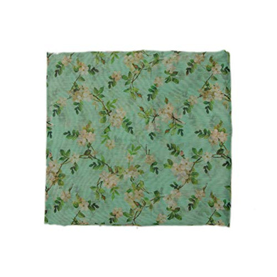 S H A H I T A J Traditional Rajasthani Floral Faux Silk Blue Barati/Groom/Social Occasions Turban Safa Pagdi Pheta Cloth for Kids and Adults (CT346)-ST506