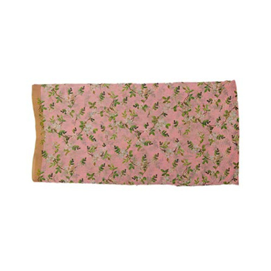 S H A H I T A J Traditional Rajasthani Floral Faux Silk Pink Barati/Groom/Social Occasions Turban Safa Pagdi Pheta Cloth for Kids and Adults (CT347)-Free Size-1