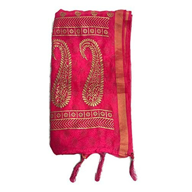S H A H I T A J Traditional Rajasthani Boota Faux Silk Pink Barati/Groom/Social Occasions Turban Safa Pagdi Pheta Cloth for Kids and Adults (CT351)-ST511