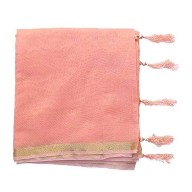 S H A H I T A J Traditional Rajasthani Faux Silk Peach Barati/Groom/Social Occasions Turban Safa Pagdi Pheta Cloth for Kids and Adults (CT354)-ST514
