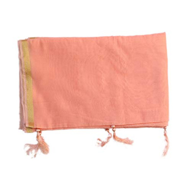S H A H I T A J Traditional Rajasthani Faux Silk Peach Barati/Groom/Social Occasions Turban Safa Pagdi Pheta Cloth for Kids and Adults (CT354)-Free Size-1
