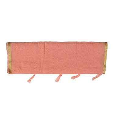 S H A H I T A J Traditional Rajasthani Faux Silk Peach Barati/Groom/Social Occasions Turban Safa Pagdi Pheta Cloth for Kids and Adults (CT354)-Free Size-3