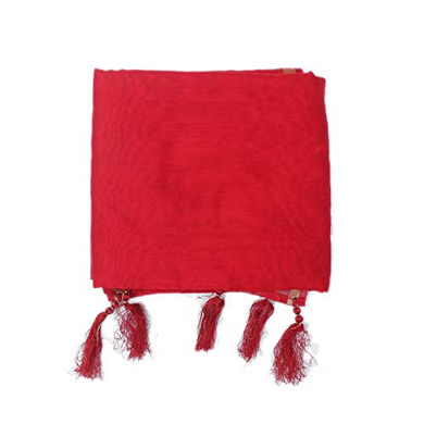 S H A H I T A J Traditional Rajasthani Faux Silk Red Barati/Groom/Social Occasions Turban Safa Pagdi Pheta Cloth for Kids and Adults (CT356)-ST516