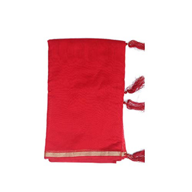 S H A H I T A J Traditional Rajasthani Faux Silk Red Barati/Groom/Social Occasions Turban Safa Pagdi Pheta Cloth for Kids and Adults (CT356)-Free Size-1