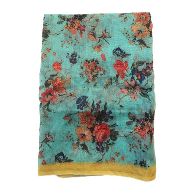 S H A H I T A J Traditional Rajasthani Floral Sea Green Barati/Groom/Social Occasions Turban Safa Pagdi Pheta Cloth for Kids and Adults (CT359)-Free Size-1