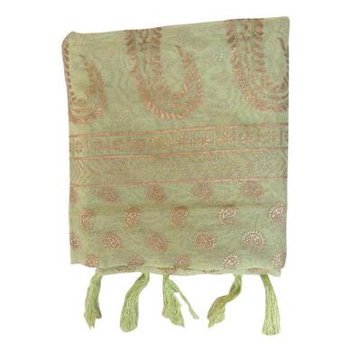 S H A H I T A J Traditional Rajasthani Boota Print Green Barati/Groom/Social Occasions Turban Safa Pagdi Pheta Cloth for Kids and Adults (CT379)-ST539