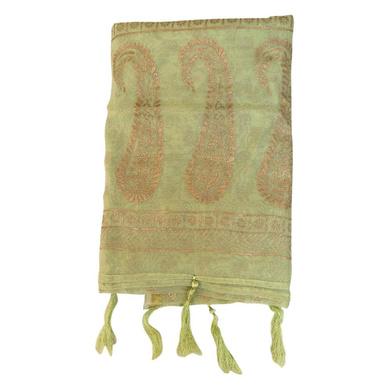 S H A H I T A J Traditional Rajasthani Boota Print Green Barati/Groom/Social Occasions Turban Safa Pagdi Pheta Cloth for Kids and Adults (CT379)-Free Size-1