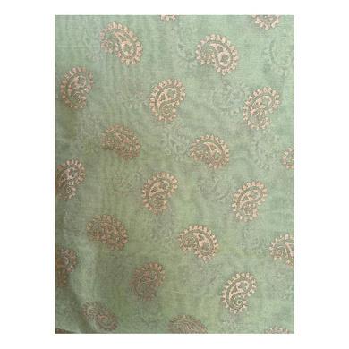 S H A H I T A J Traditional Rajasthani Boota Print Green Barati/Groom/Social Occasions Turban Safa Pagdi Pheta Cloth for Kids and Adults (CT379)-Free Size-2