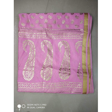 S H A H I T A J Traditional Rajasthani Boota Print Pink Barati/Groom/Social Occasions Turban Safa Pagdi Pheta Cloth for Kids and Adults (CT380)-Free Size-2