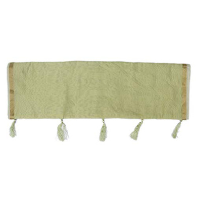 S H A H I T A J Traditional Rajasthani Faux Silk Pista Green Barati/Groom/Social Occasions Turban Safa Pagdi Pheta Cloth for Kids and Adults (CT390)-Free Size-2